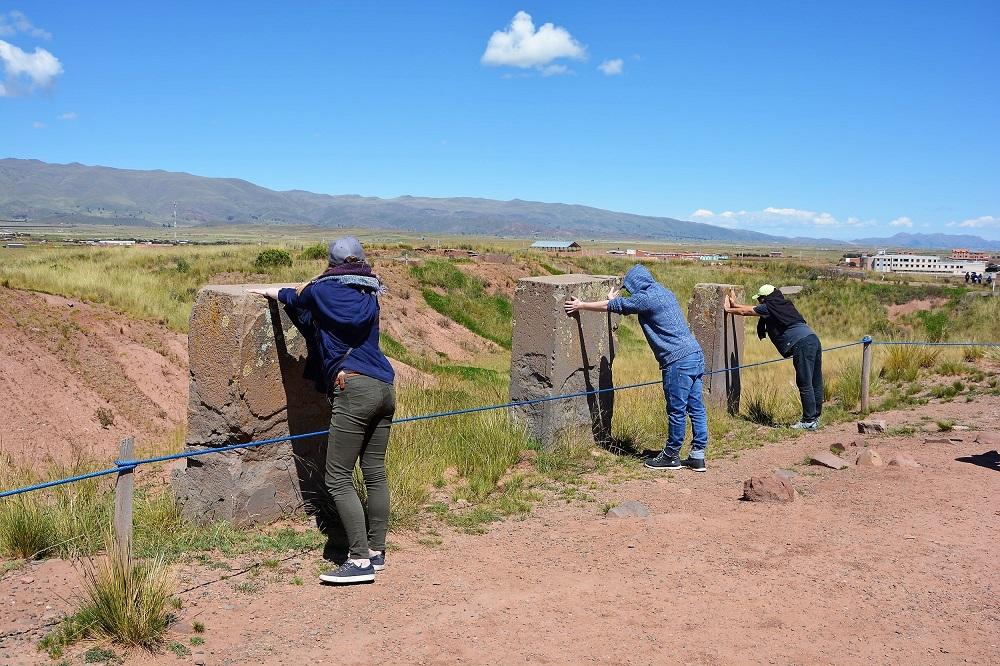 Elise, Thomas et Orlando, Tiwanaku