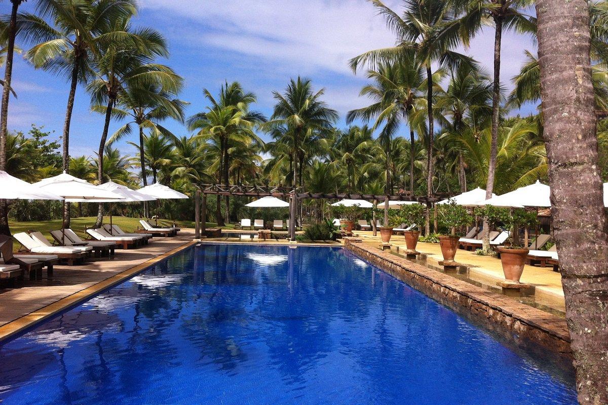 La piscine de l´hôtel Txai Resort, Itacaré – voyage de noces à Bahia au Brésil