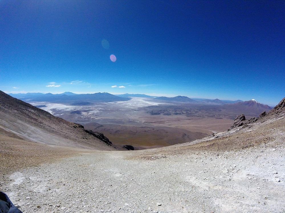 Volcan Ollague, au sommet