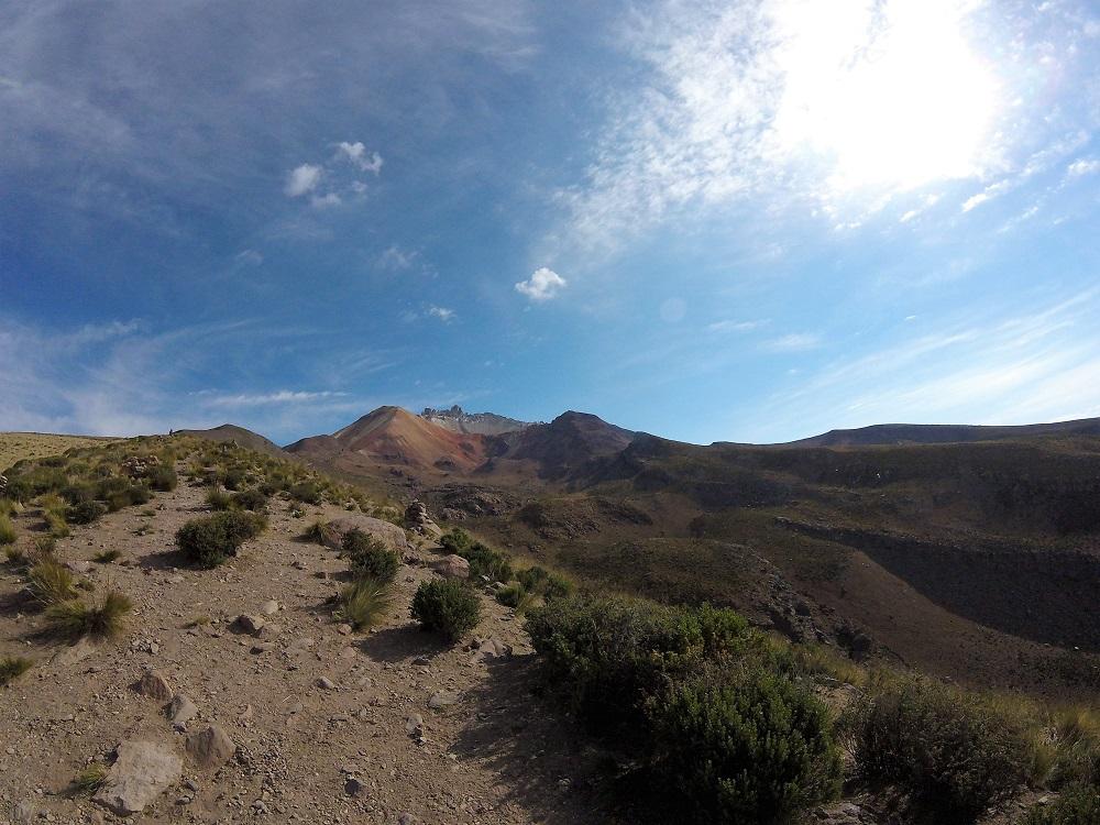 Volcan Tunupa, au tout début de l'ascension