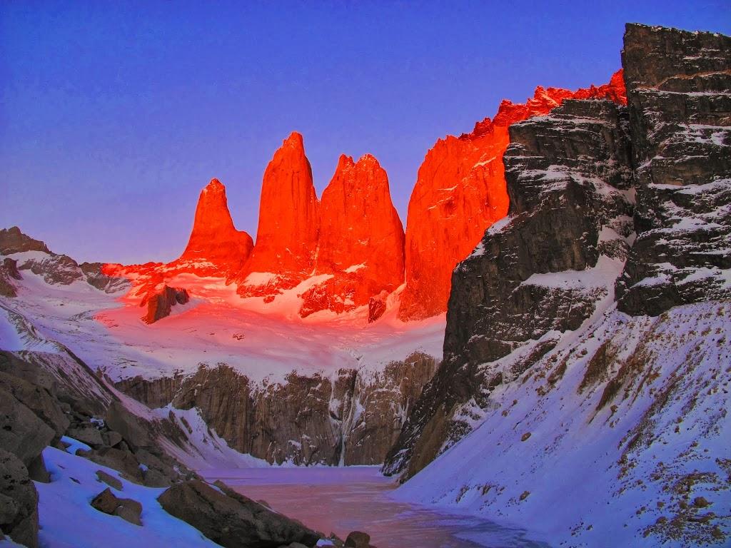 Lever du Soleil sur Torres del Paine – Patagonie chilienne