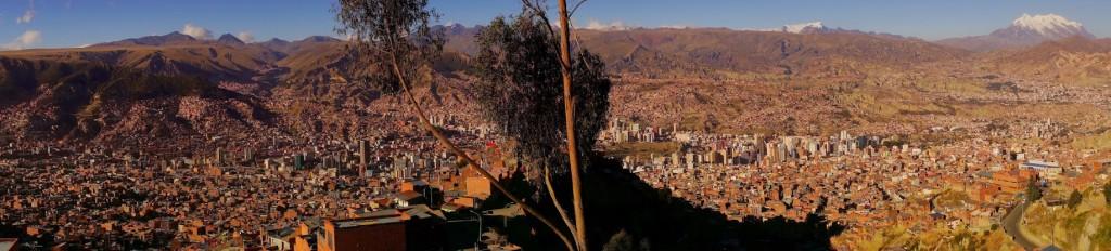 La Paz depuis l'Illimani – Bolivie