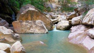 L'eau turquoise du Canyon Vergel en Bolivie