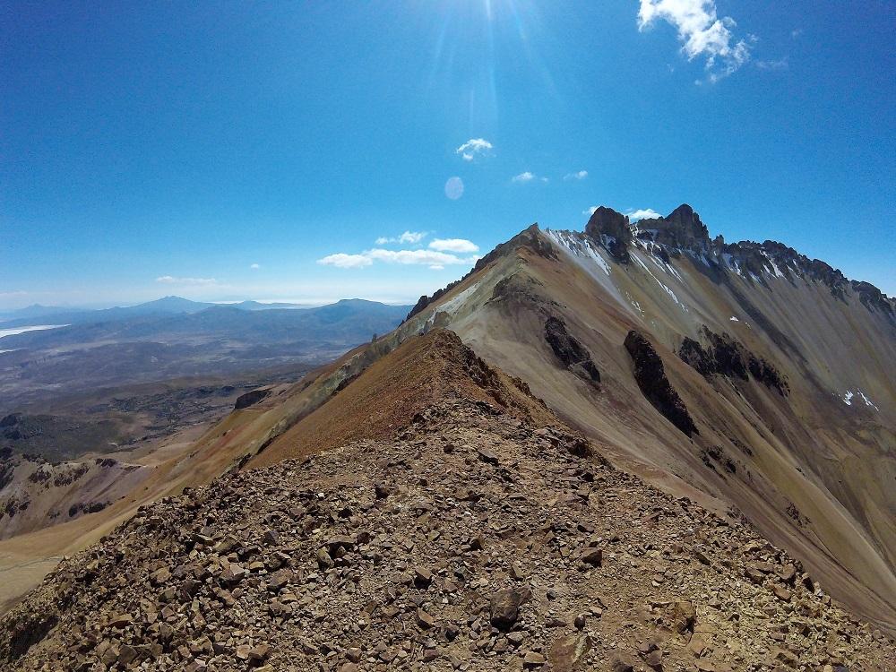 Crête au sommet du volcan Tunupa