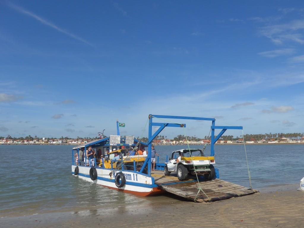 Barge – traversée de la rivière – Nordeste