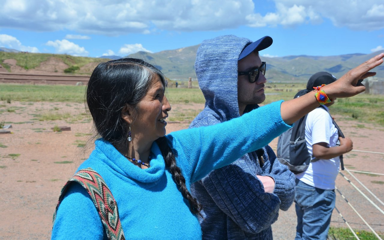 Notre guide Ross Mary, Tiwanaku