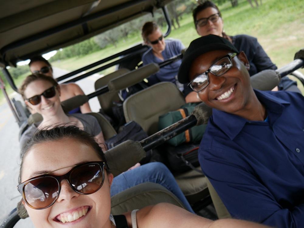 L'équipe en route pour notre Lodge – voyage Botswana