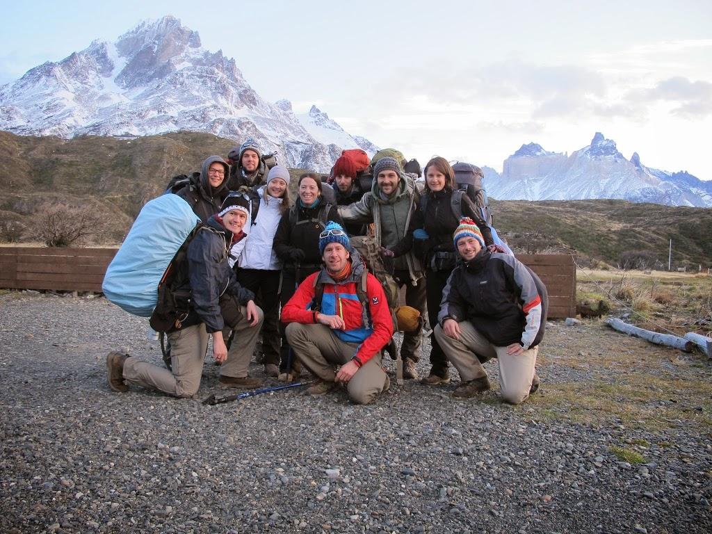 Départ de la troupe du Refuge Paine Grande – Patagonie, Chili