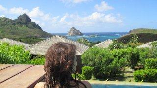 Moment méditation depuis la piscine de la Pousada Maravilha
