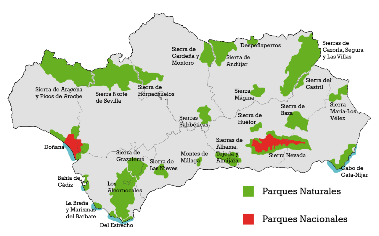 Parcs naturels d'Andalousie