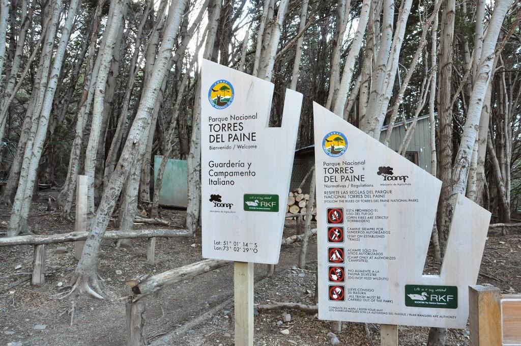 Arrivée au campement Italiano, Parc Torres del Paine, Patagonie chilienne