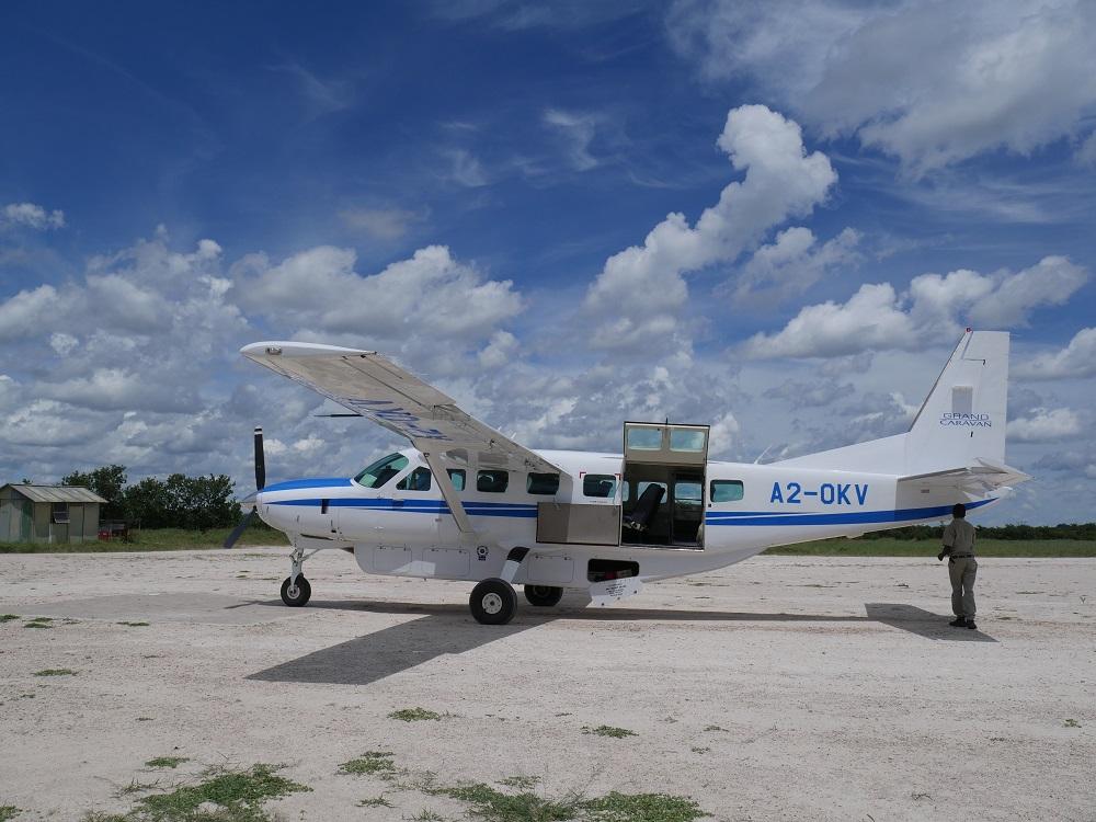 Notre petit avion qui va nous emmener jusqu'à Savuti – voyage Botswana