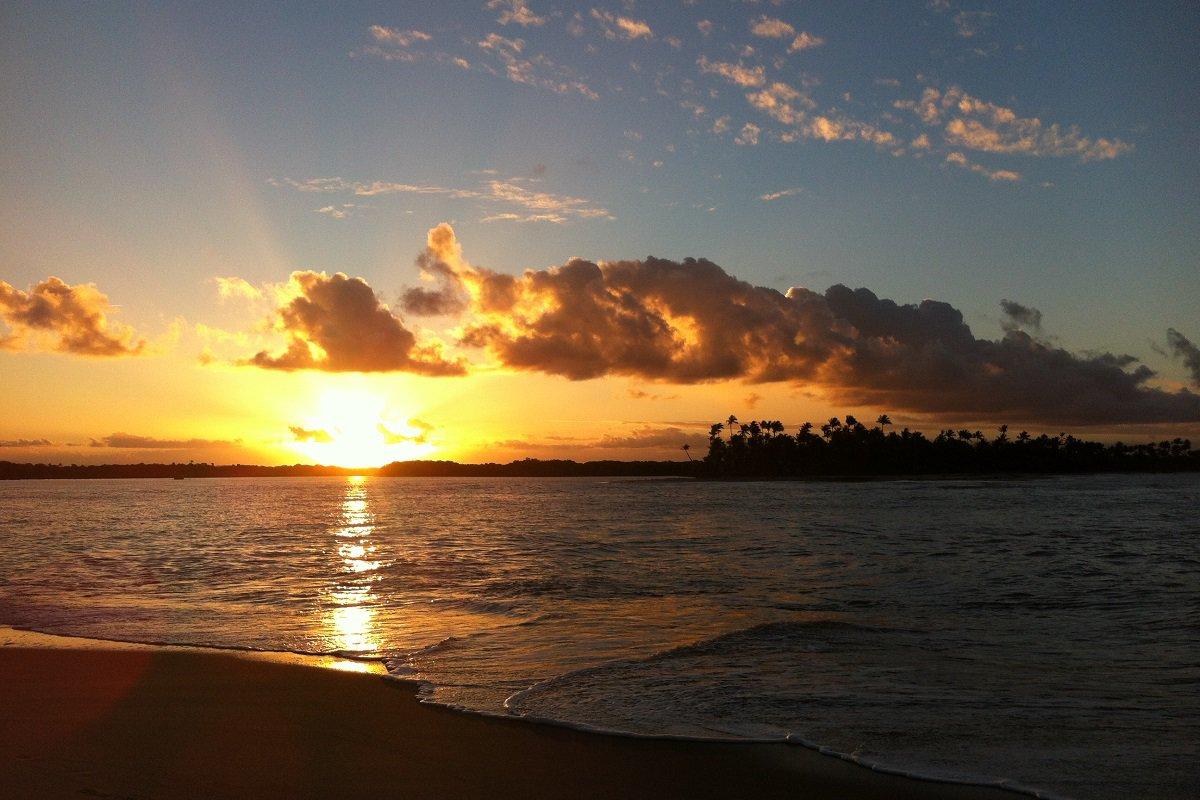 Coucher de soleil sur la plage de Boipeba – voyage de noces à Bahia au Brésil