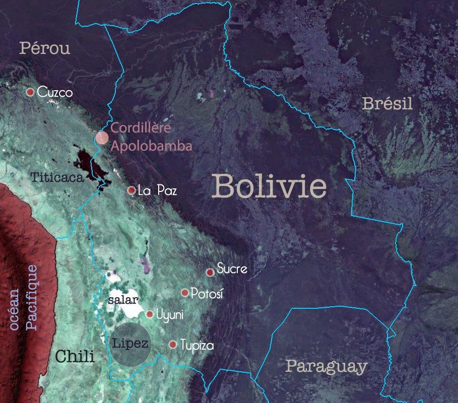 Carte de Bolivie – Cordillère d'Apolobamba, terre des Kallawayas
