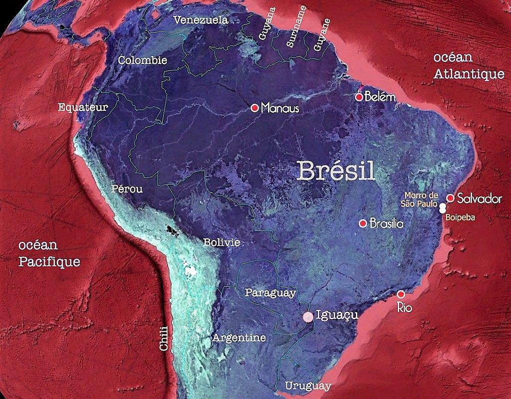 Carte du Brésil – îles Morro de São Paulo & Boipeba – terra brazil