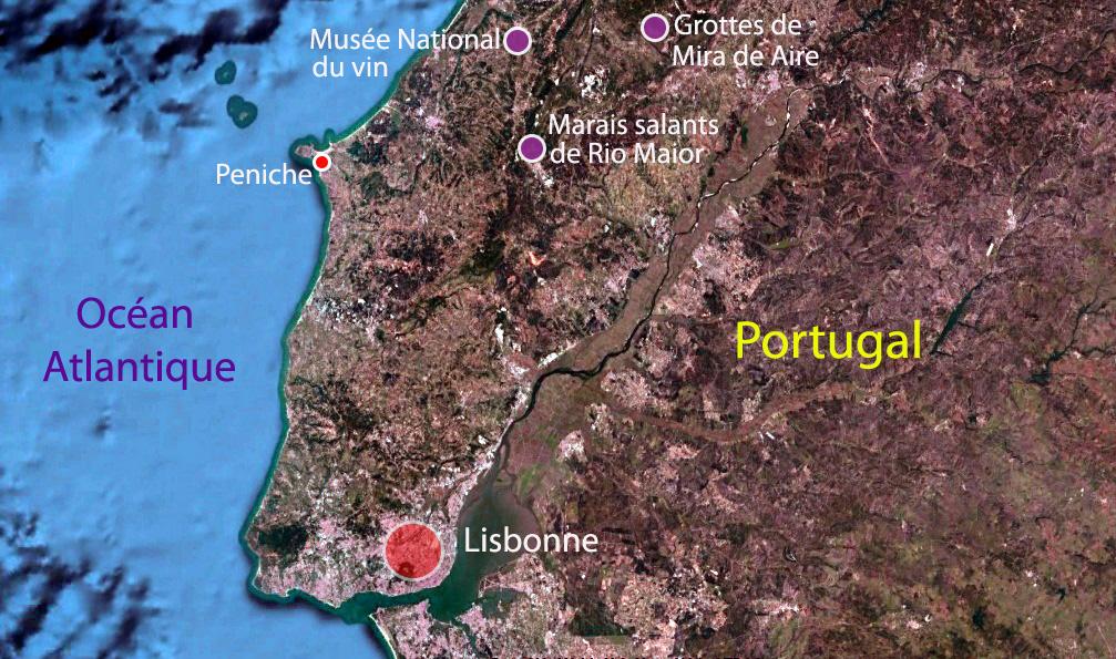 Carte des étapes du voyage de Sandrine au Portugal – Terra Lusitania