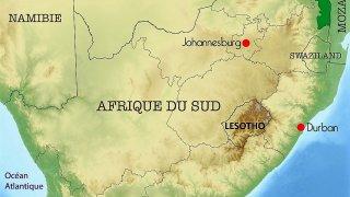 Carte du Lesotho et de l'Afrique du Sud – Terra South Africa, voyages en Afrique australe