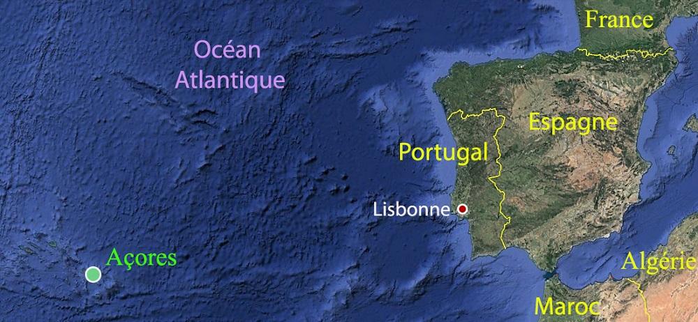 Carte archipel des Açores, Terra Lusitania