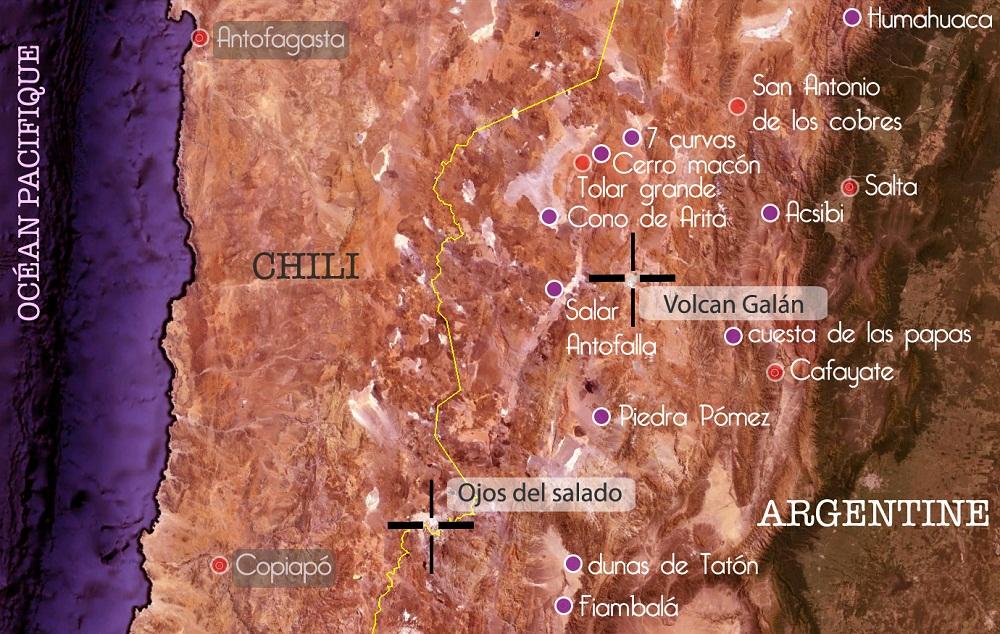 Carte écorégion la Puna argentine
