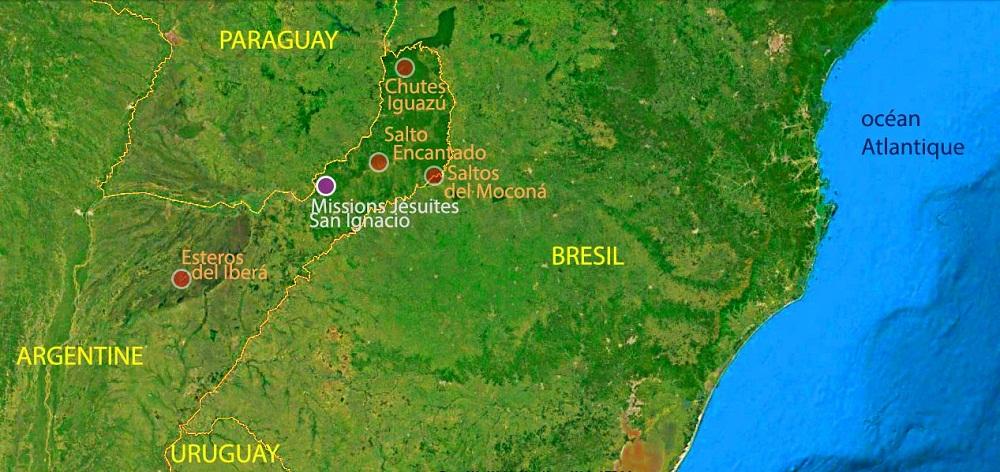 carte du voyage d'émilie à Iguazu, Misiones et Corrientes – Argentine