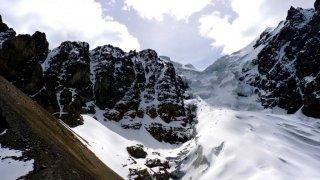 Avant d'entamer le pierrier – Ascension du Condoriri, Bolivie