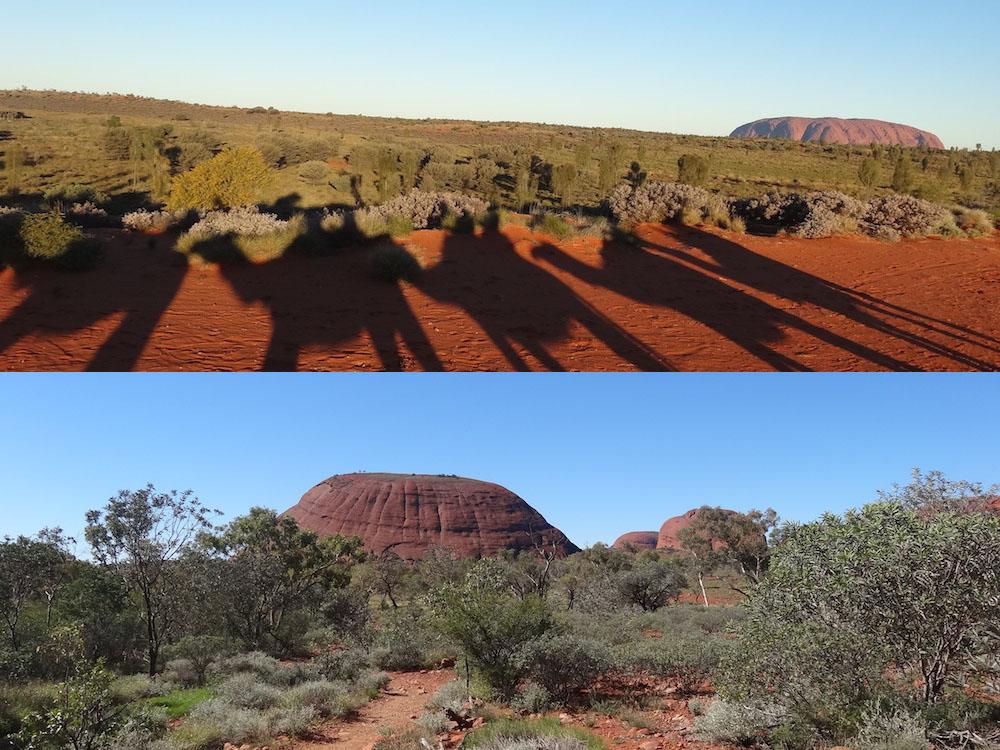 Balade à dromadaire au coucher du soleil (Uluru) ; la Vallée des Vents (Kata-Tjuta) – voyage Australie