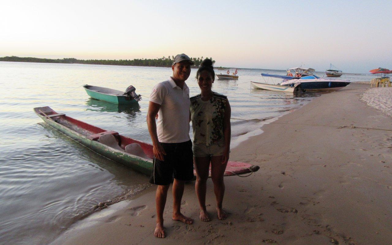 Balade en canoë au coucher de soleil – île Boipeba