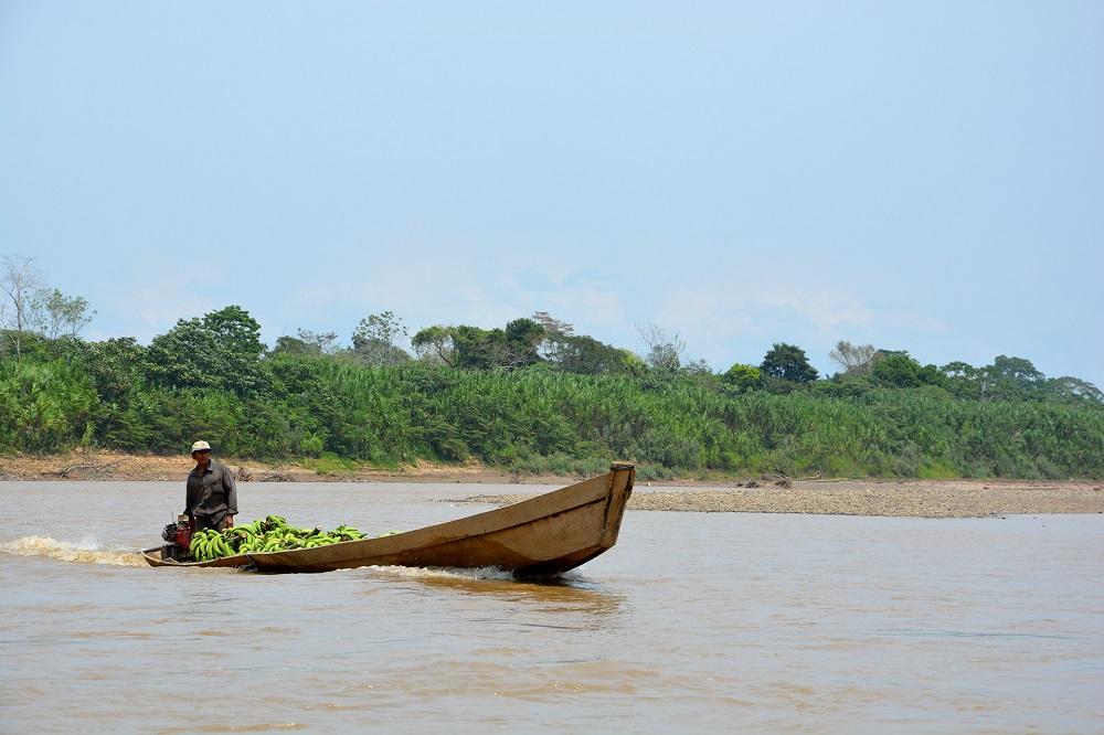 Barque de bananes sur le rio Tuchi – Amazonie bolivienne