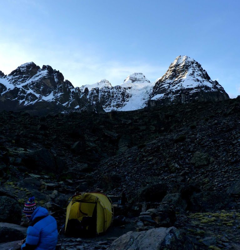 Campement trekking Condoriri Bolivie