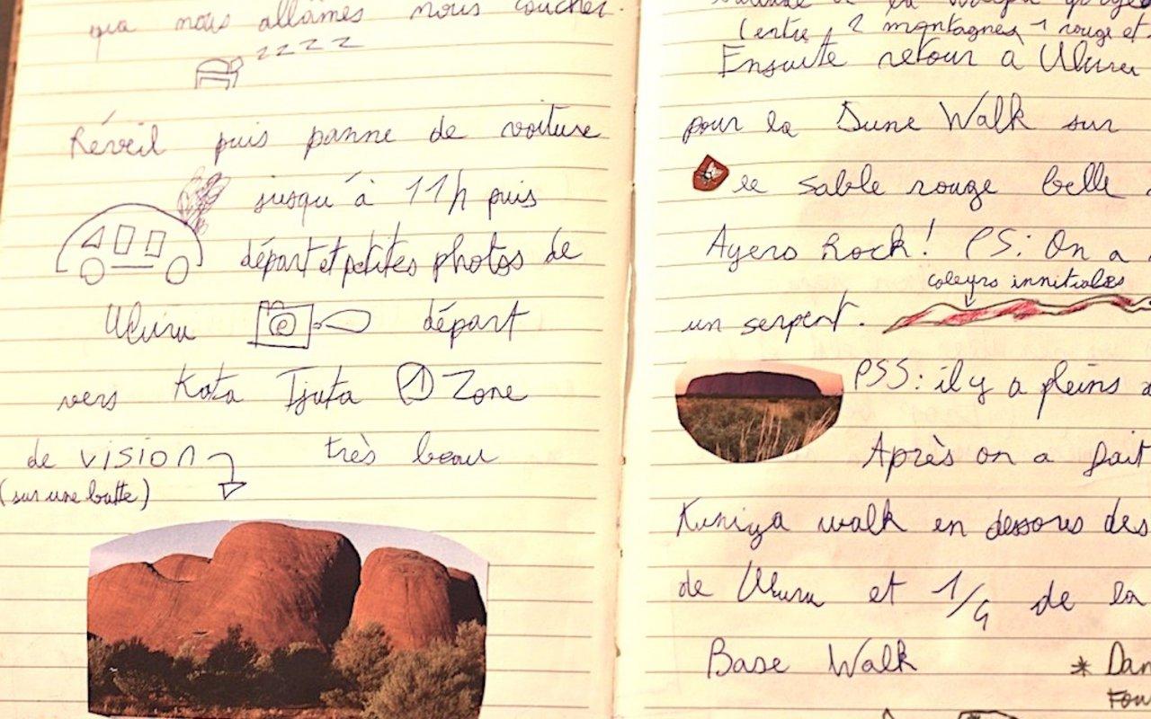Carnet de voyage Ayers Rock – Australie