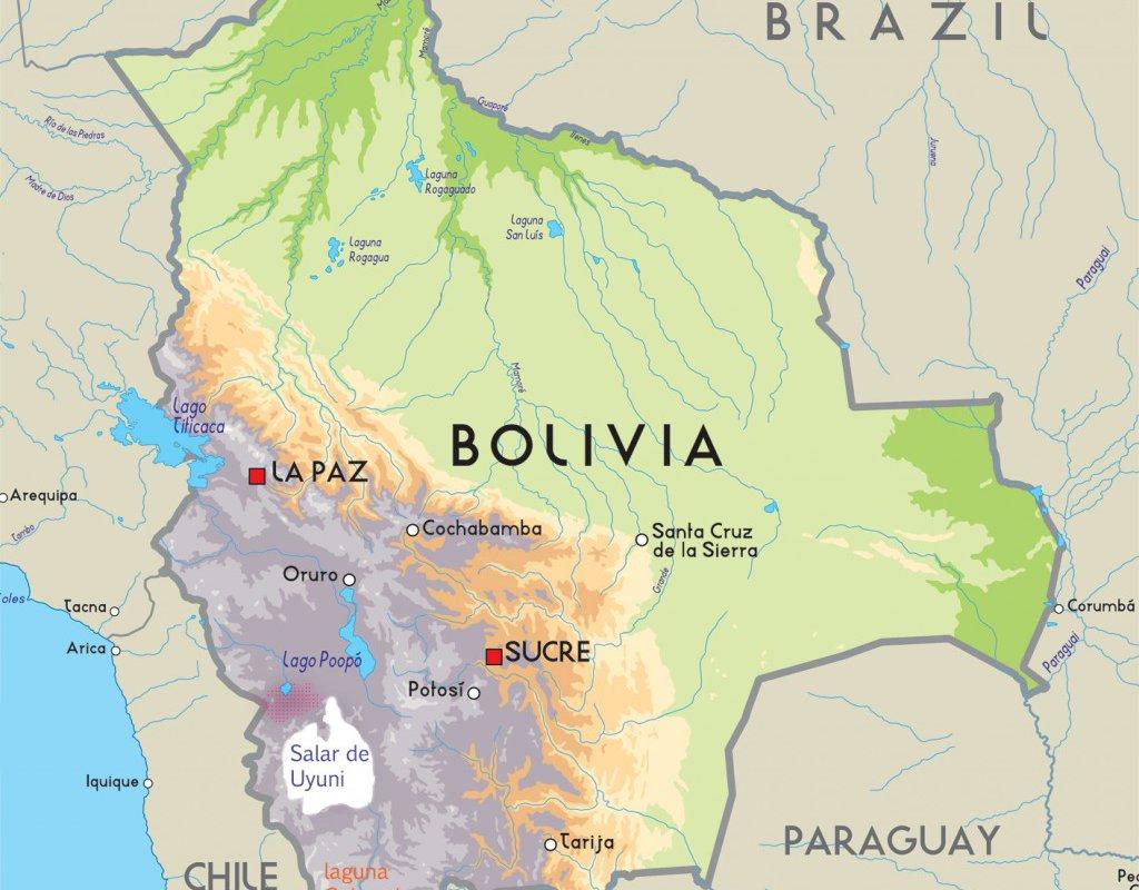 Carte Bolivie