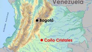 Carte de Colombie – Caño Cristales