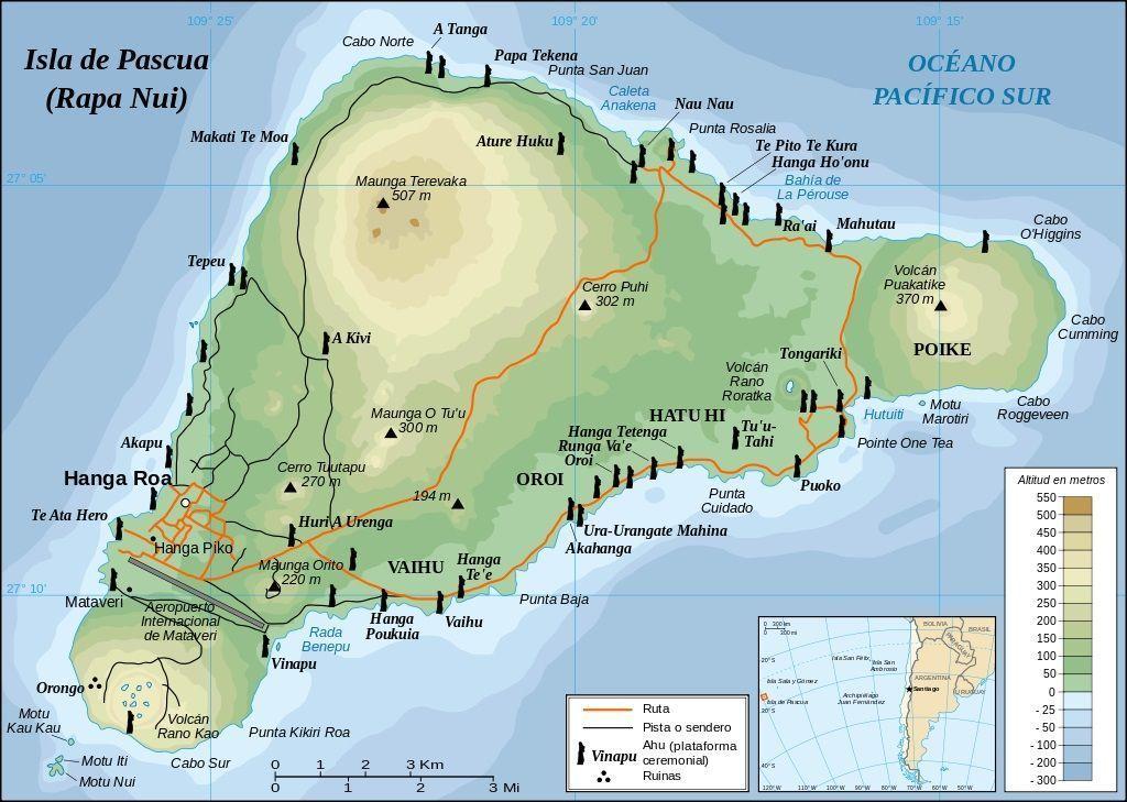 Île de Pâques – carte