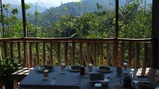 Casado, petit-déjeuner typique sur la terrasse – Costa Rica