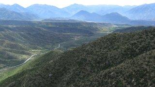 Sur la route d'Upsallata – Argentine