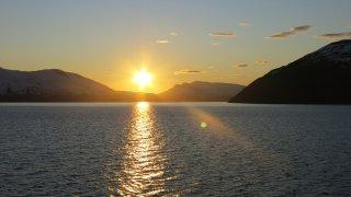 Coucher de soleil sur le Canal de Beagle