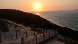 Coucher du soleil sur la péninsule du Machangulo