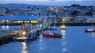 Départ du port de Punta Arenas