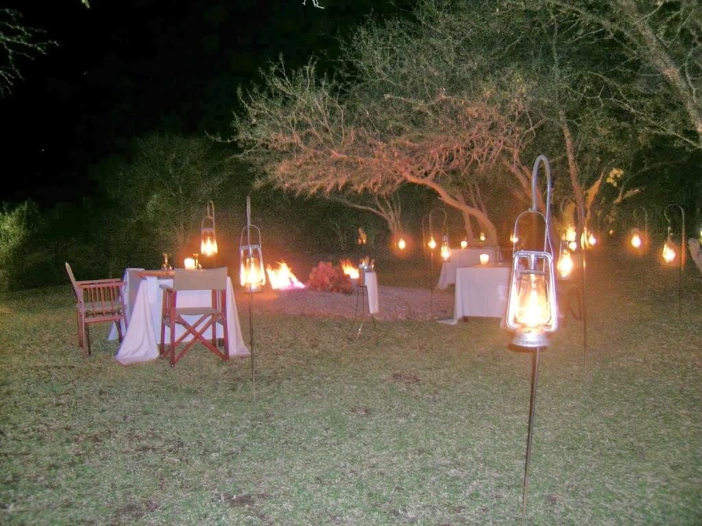 Dîner à la belle étoile au Marataba Safari and Co – Afrique du Sud