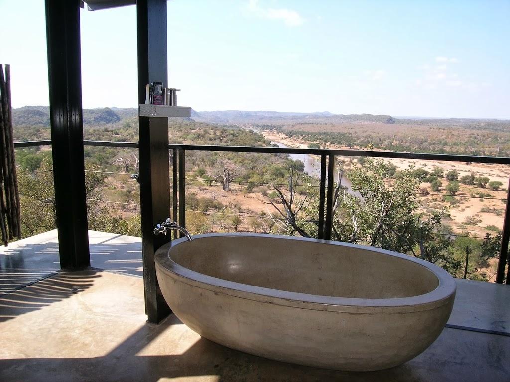 Vue sur la rivière Levuvhu, The Outpost Lodge, Afrique du Sud