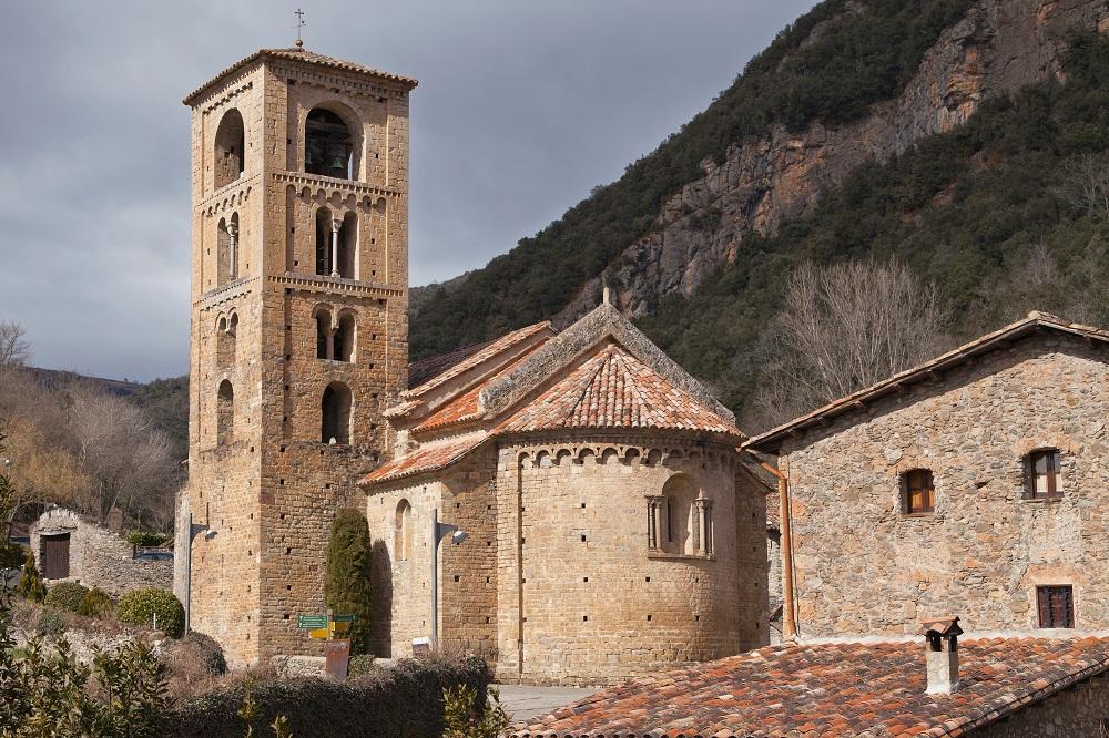 Eglise San Cristobal de Beget en Catalogne