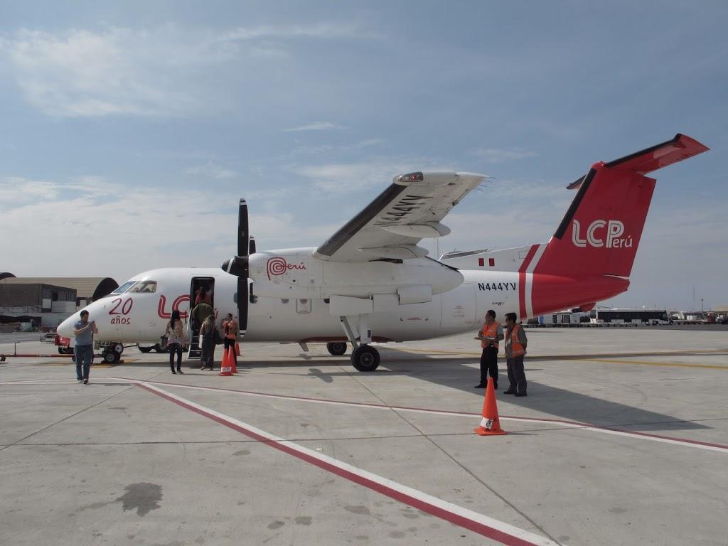 Embarquement pour le survol des lignes de Nazca – Pérou