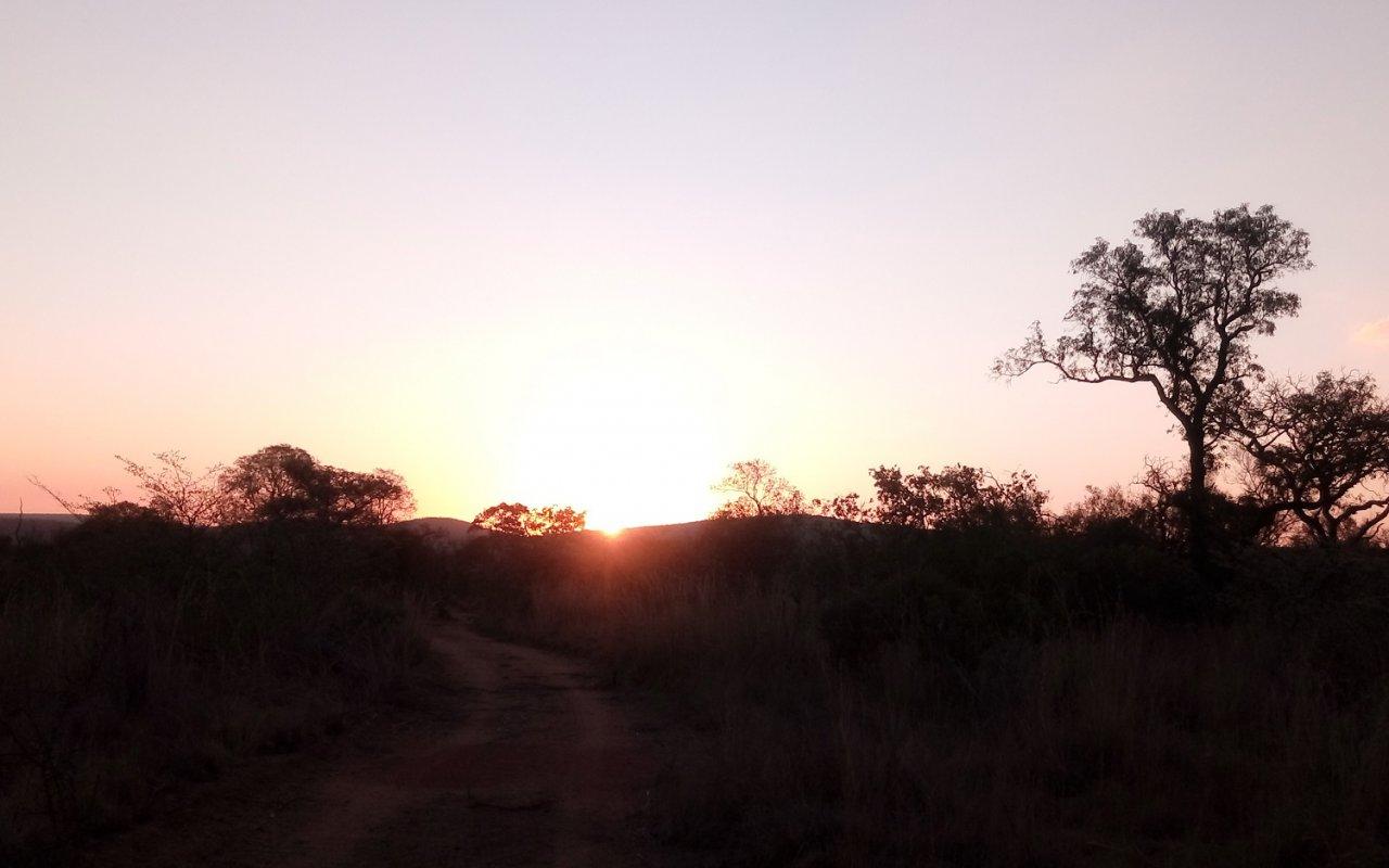 Encore un de ces mystiques couchers de soleil… Voyage au Limpopo
