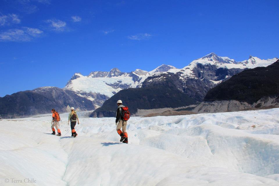 Randonnée sur le glacier Exploradores au Chili