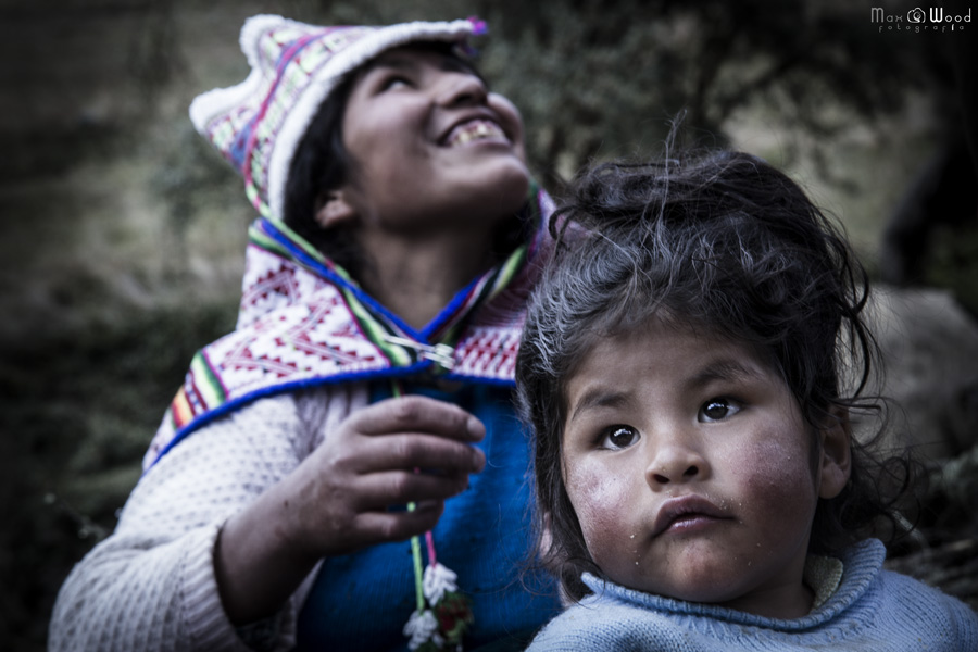 Femme et fils d'Eugenio – Chez les Kallawayas, Bolivie
