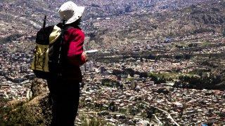 Grover, vue sur La Paz, Bolivie