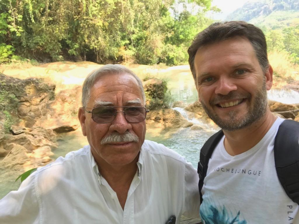Sébastien et l'un de nos supers guides ! Road trip au mexique