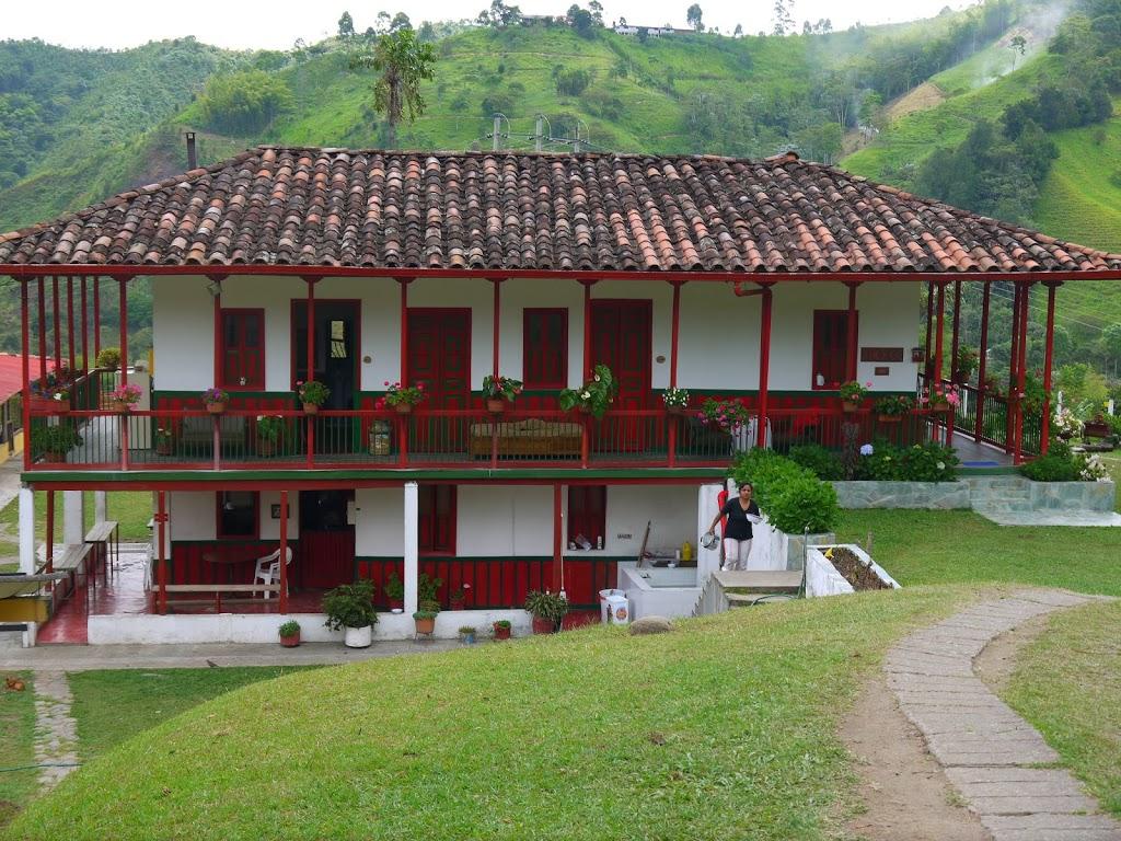 Hacienda typique de la région du café en Colombie