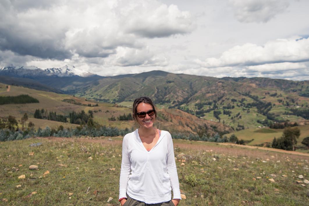 Vue sur la cordillére blanche depuis le Mirador – Huaraz, Pérou