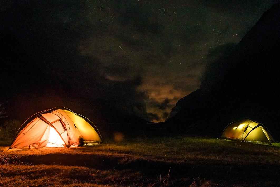 Site du campement – Huaraz, Pérou